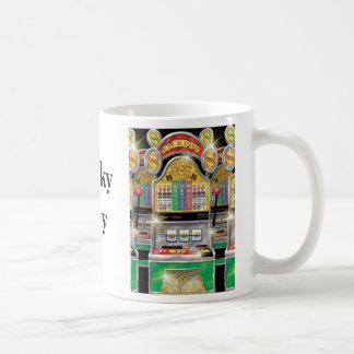 幸運な人-賭博のマグ コーヒーマグカップ