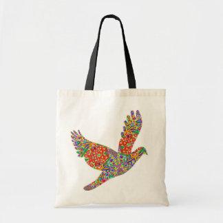 幸運な天使の鳥のトートバック トートバッグ