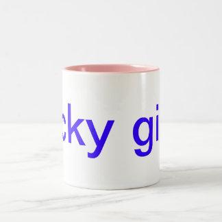 幸運な女の子 ツートーンマグカップ