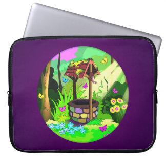 幸運な希望の健康な魔法の円の蝶森林 ラップトップスリーブ