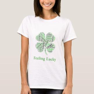 幸運な感じること Tシャツ