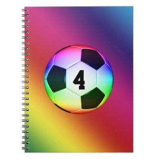幸運な数カラフルなサッカー|のフットボール ノートブック