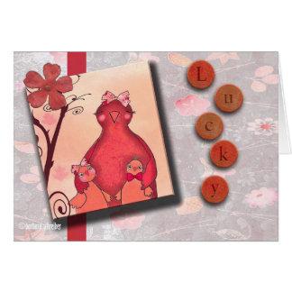 幸運な未婚の母の幸せな母の日 カード