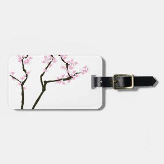 幸運な桜およびピンクの金魚の贅沢なfernandes ラゲッジタグ