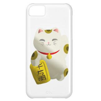 幸運な猫の白 iPhone5Cケース