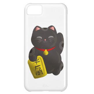 幸運な猫の黒 iPhone5Cケース