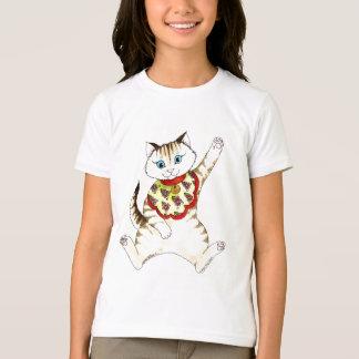 幸運な猫のTシャツ Tシャツ