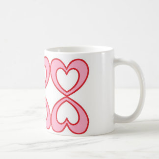 幸運な第8スタイルの3つのハート コーヒーマグカップ