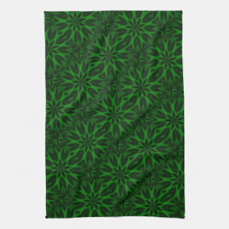 幸運な緑によって斑点を付けられるヒョウの万華鏡のように千変万化するパターンタオル キッチンタオル