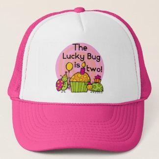 幸運な虫のカップケーキの第2誕生日のTシャツおよびギフト キャップ