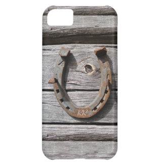 幸運な蹄鉄の木の塀のiPhone 5のモノグラム iPhone5Cケース