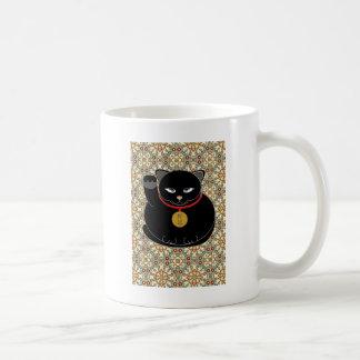幸運な黒猫 コーヒーマグカップ