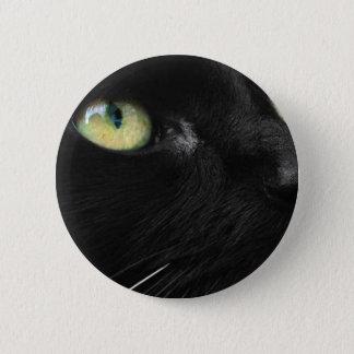 幸運な黒猫 5.7CM 丸型バッジ