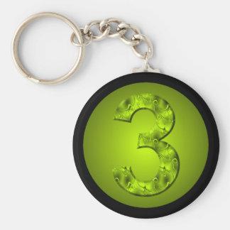幸運な3つの数自然の緑 キーホルダー