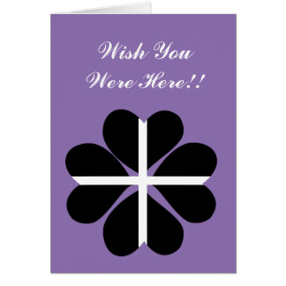 幸運な4つの葉のクローバーのコーニッシュの旗 カード