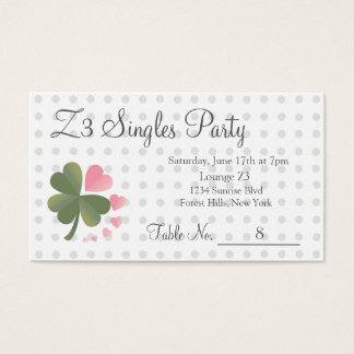 幸運な4つの葉愛クローバーのパーティーの予約カード 名刺