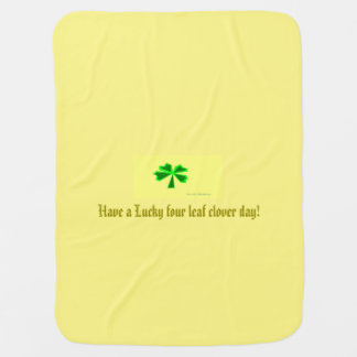 幸運な4葉のクローバー (LFLC) ベビー ブランケット