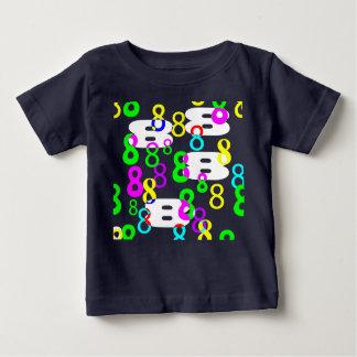 幸運な8のワイシャツ ベビーTシャツ