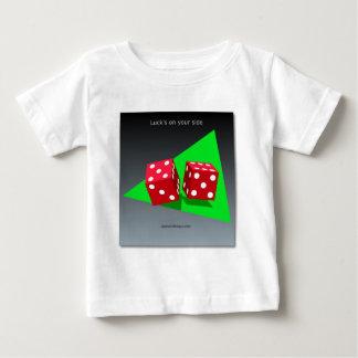 幸運なdicedesign ベビーTシャツ