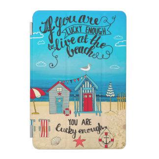 幸運なEnough|の原稿のビーチの引用文なら iPad Miniカバー