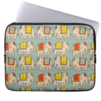 幸運のサーカス象かわいい象パターン ラップトップスリーブ