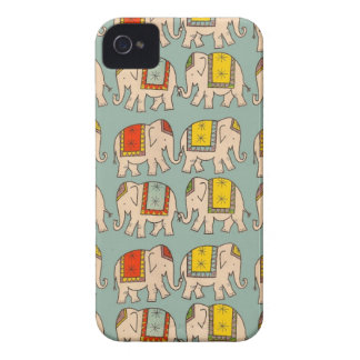 幸運のサーカス象かわいい象パターン Case-Mate iPhone 4 ケース