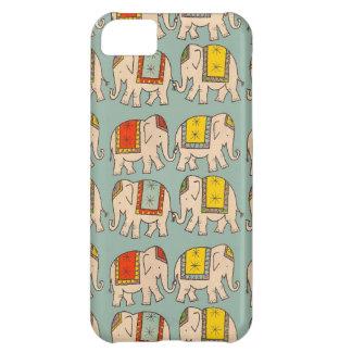 幸運のサーカス象かわいい象パターン iPhone5Cケース