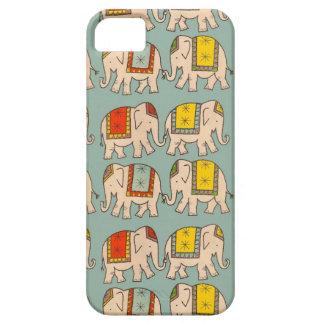 幸運のサーカス象かわいい象パターン iPhone SE/5/5s ケース