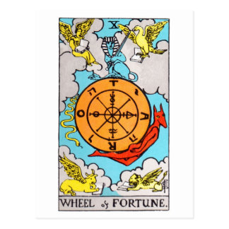 幸運のタロット車輪 ポストカード