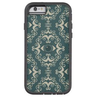 幸運のダマスク織の悪のまなざしのティール(緑がかった色)のヒップスターパターン TOUGH XTREME iPhone 6 ケース