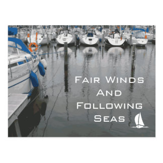 幸運の公平な風そして続く海句 ポストカード