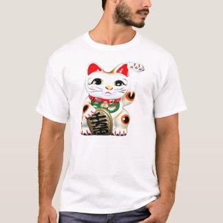 幸運猫のワイシャツ Tシャツ