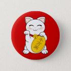幸運猫- Maneki Neko 缶バッジ