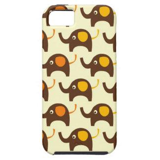 幸運象のかわいいのかわいい自然パターン日焼け iPhone SE/5/5s ケース