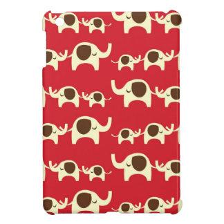 幸運象のチェリーレッドのかわいい自然パターン iPad MINI カバー