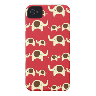 幸運象のチェリーレッドのiPhone 4Sの場合の皮 Case-Mate iPhone 4 ケース