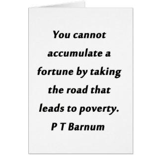 幸運- P T Barnum --を集めて下さい カード