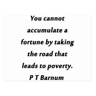 幸運- P T Barnum --を集めて下さい ポストカード
