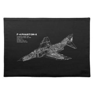 幻影の戦闘機(超音速航空機)のパイロット ランチョンマット