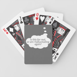 """""""幻覚を起こしますか。""""カードを遊ぶカスタムな色 バイスクルトランプ"""