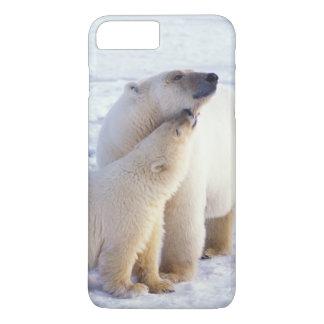 幼いこども、のパック氷を持つ白くまの雌豚 iPhone 8 PLUS/7 PLUSケース