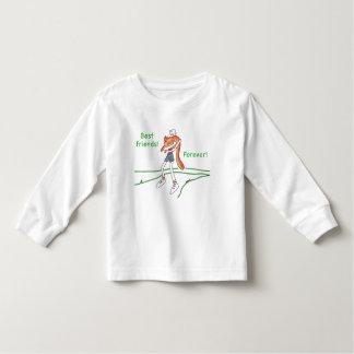 幼児のための永久に親友猫のTシャツ トドラーTシャツ