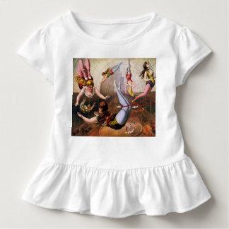 幼児のひだのティーのサーカスのブランコのイラストレーション トドラーTシャツ