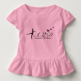 幼児のひだのティーを踊るために塗られる トドラーTシャツ
