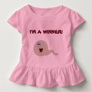 幼児のひだのティー勝者 トドラーTシャツ