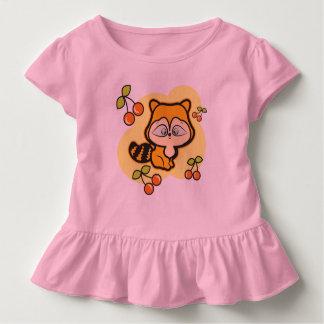 幼児のひだのティー、孤およびさくらんぼとのピンク、 トドラーTシャツ