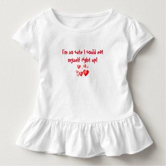 """幼児のひだの服""""かわいいIMそう私はできました…."""" トドラーTシャツ"""