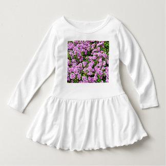 幼児のひだの服-紫色の花 ドレス