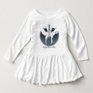 幼児のオオカミ子犬の服のハスキーな子犬のベビーの服 ドレス