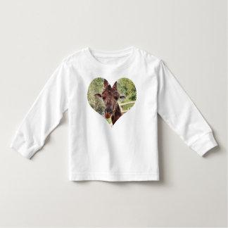 幼児のキリンのTシャツ トドラーTシャツ